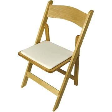 Picture of NES Natural Wood Folding Chair