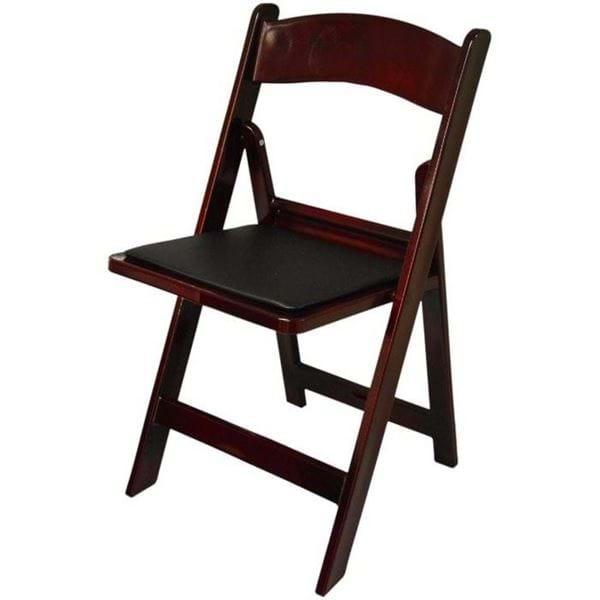 Picture of NES Reliable Dark Mahogany Resin Folding Chair