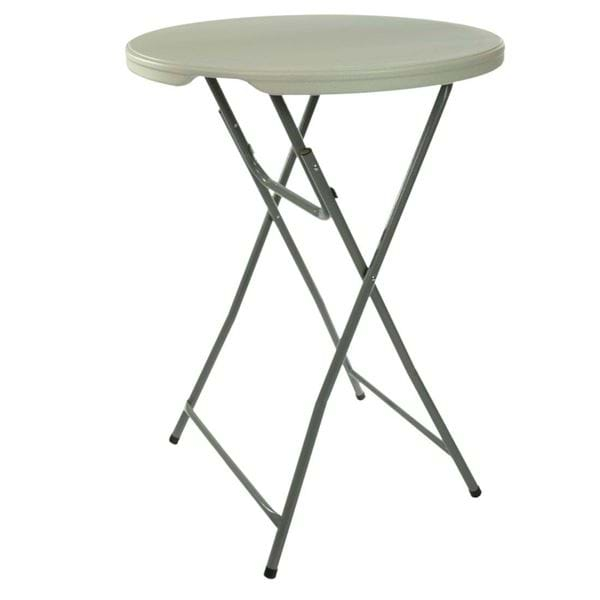 "Picture of NES Reliable 32"" Tall Plastic Folding Cocktail Table"