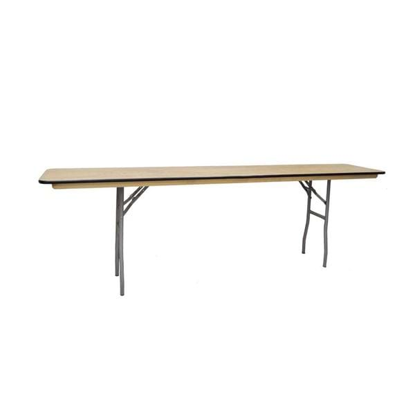 "Picture of NES 8ft x 18"" Wood Rectangle Folding Training Table"