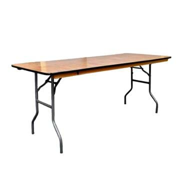 Picture of NES 6ft Rectangle Wood Folding Table