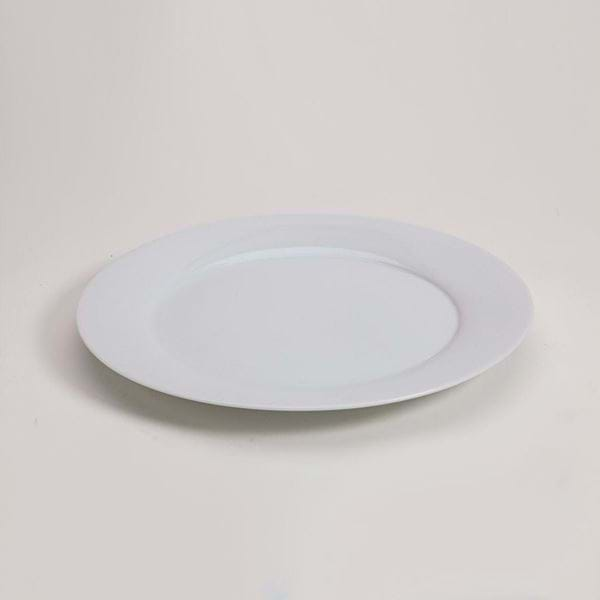 "Picture of Pearl White 10.25"" Dinner Plate"
