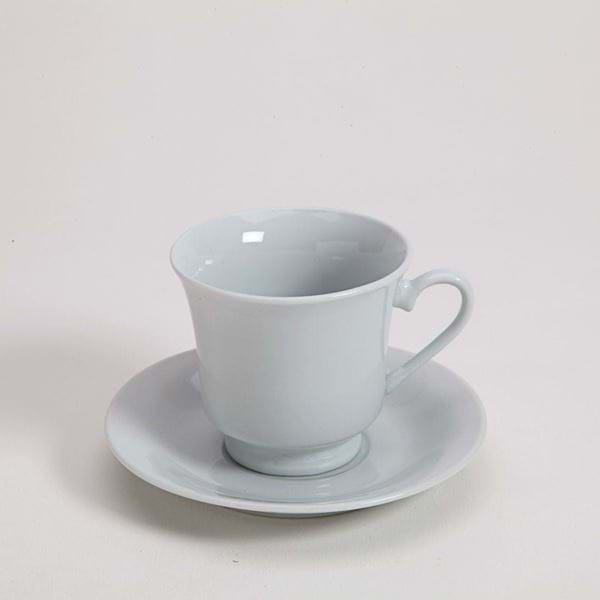 Picture of Pearl White Bell Cup and Saucer