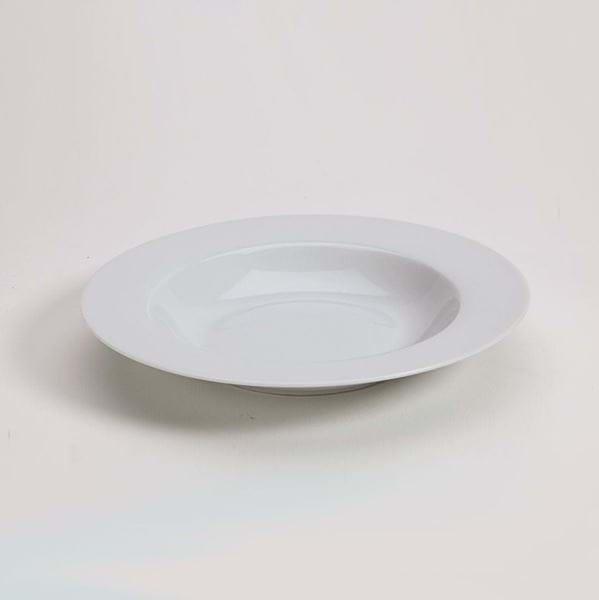 Picture of Pearl White Rim Soup Plate
