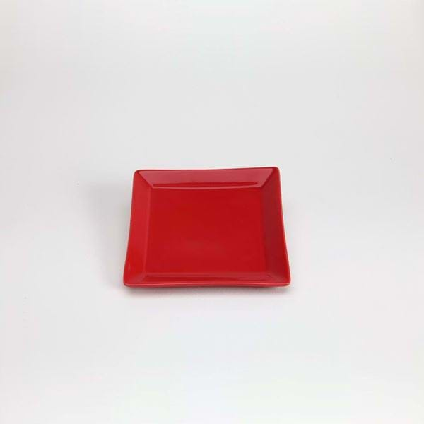 "Picture of Quadrato 5.25"" Side Plate - Red"