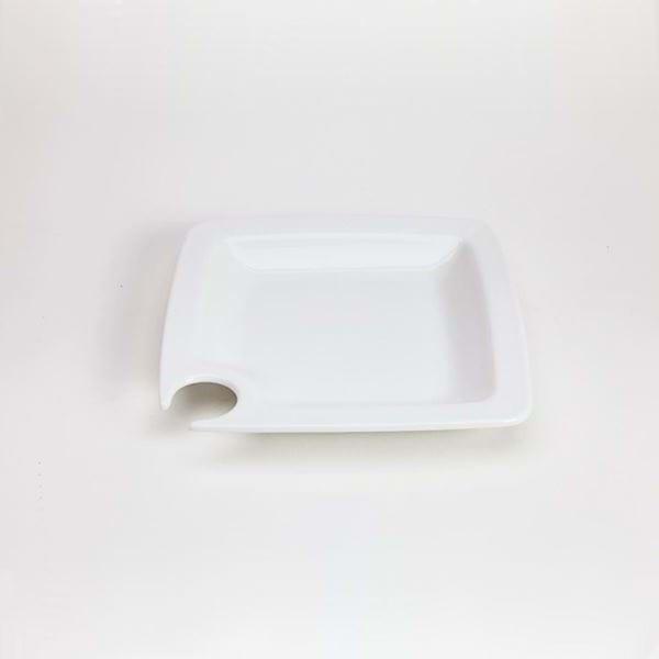 """Picture of Quadrato 7.25"""" Square Cocktail Plate"""