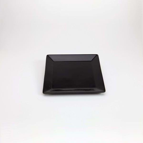 "Picture of Quadrato 7.25"" Square Dessert Plate - Black"