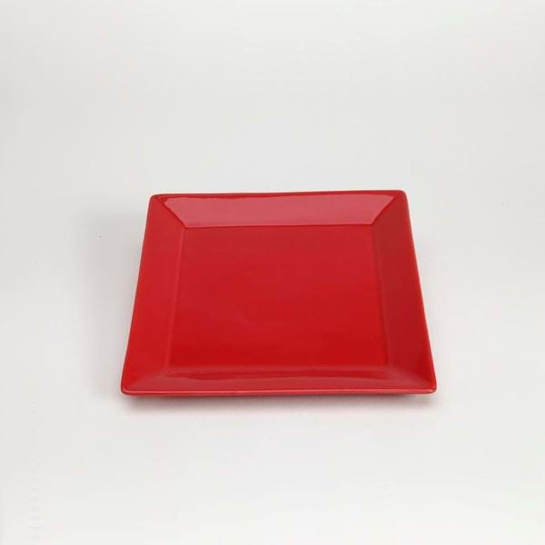 "Picture of Quadrato 7.25"" Square Dessert Plate - Red"