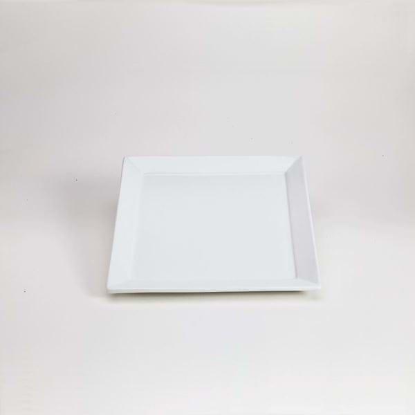 """Picture of Quadrato 10.25"""" Square White Dinner Plate"""