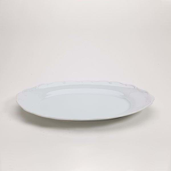 "Picture of Snow Drop 14.25"" Oval Platter"