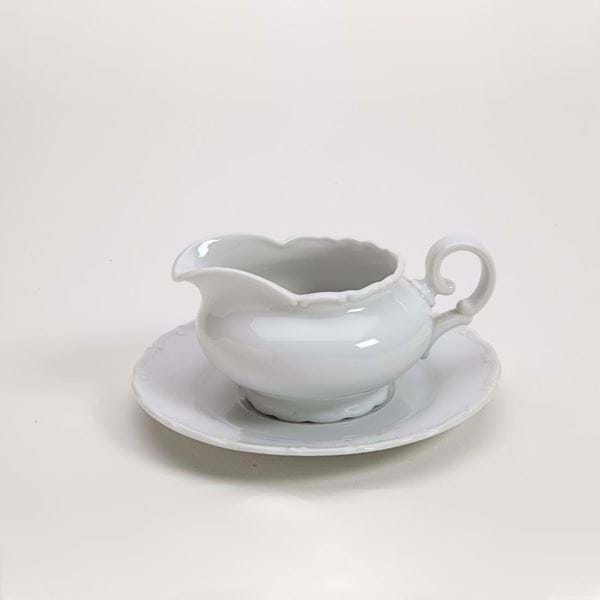 Picture of Snow Drop 12oz Gravy Boat with Plate