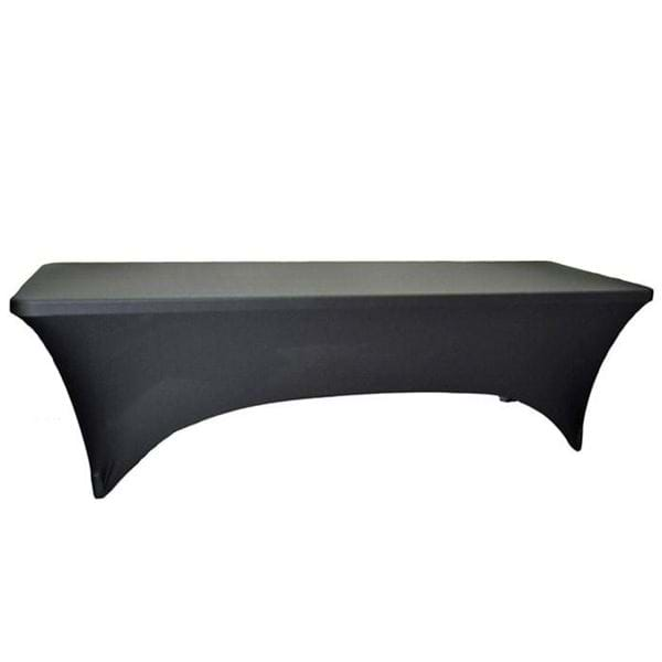 Picture of 8ft Rectangular Spandex Tablecloth - For Plastic Folding Tables
