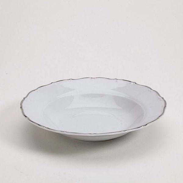 "Picture of Avignon Platinum 9"" Rim Soup Plate"
