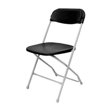 Picture of Black on Grey Plastic Folding Chairs