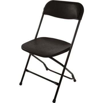 Picture of Black Plastic Folding Chair