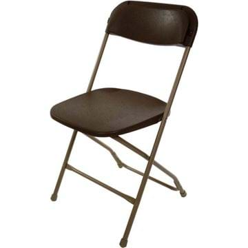 Picture of Brown on Tan Plastic Folding Chair