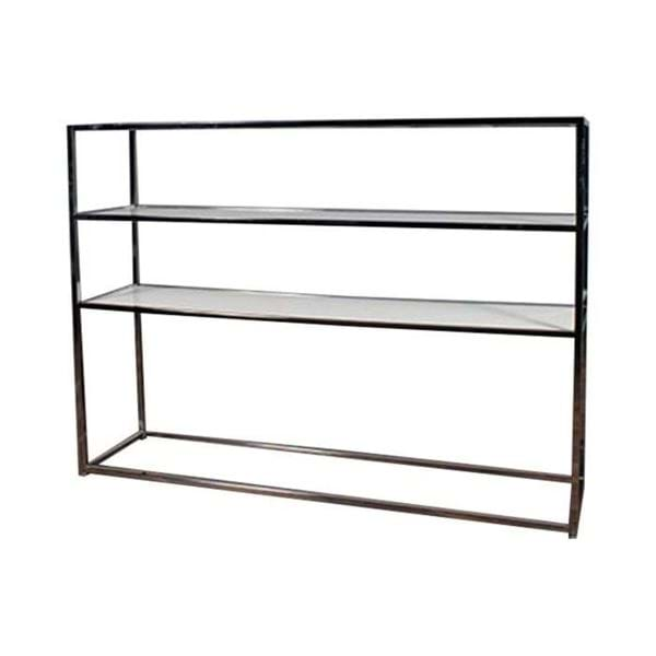 Picture of 6.5 FT Chrome Bar Back Shelving with White Plexiglass