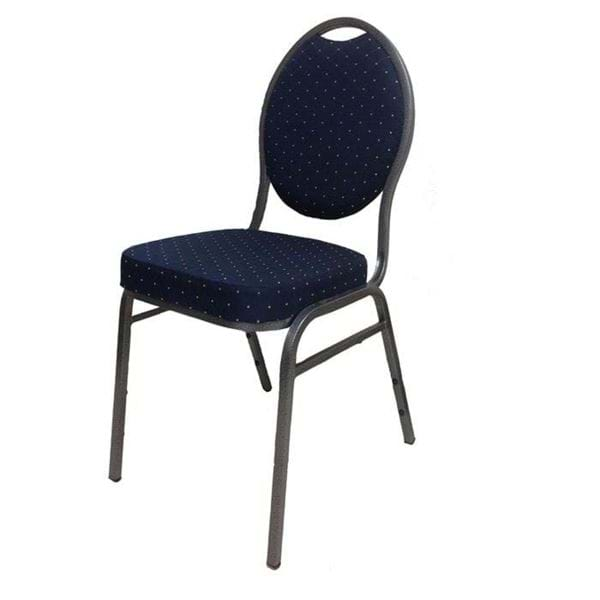 Picture of NES Reliable Teardrop Back Banquet Chair with Silver Vein Frame