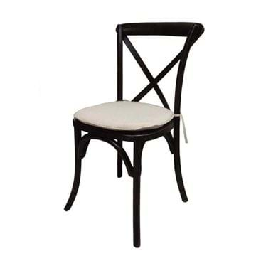 Picture of Dark Brown Wood Cross Back Chair