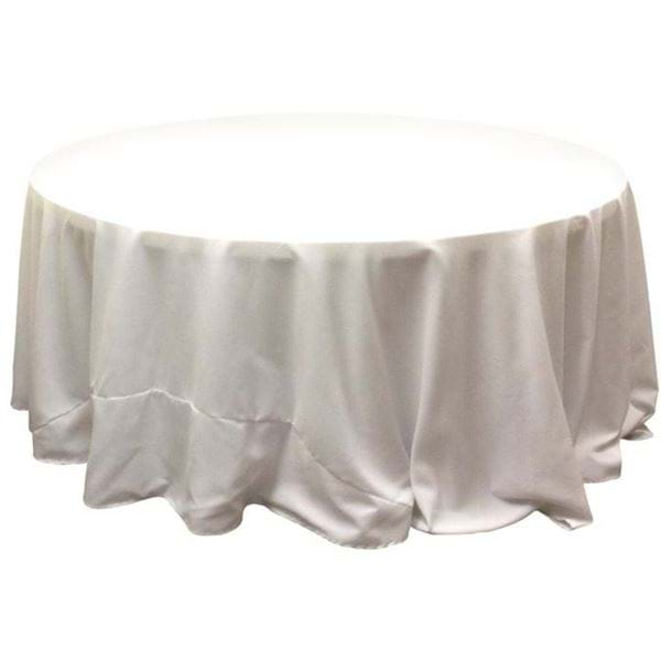 Round Table With Tablecloth.132 In Round Spun Polyester Tablecloth