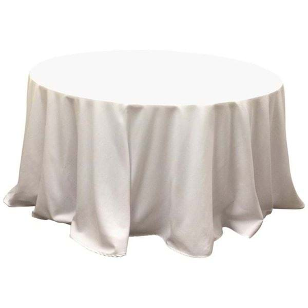 Round Table With Tablecloth.120 In Round Spun Polyester Tablecloth