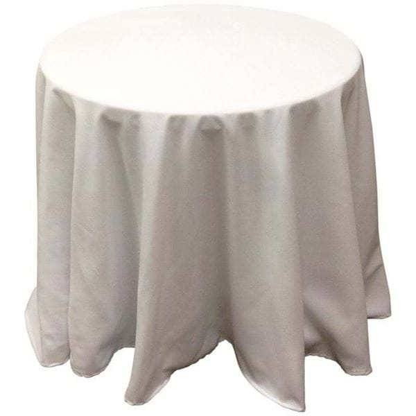 Round Table With Tablecloth.90 In Round Spun Polyester Tablecloth