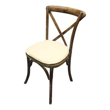 Picture of Brown Rustic Wood Cross Back Chair