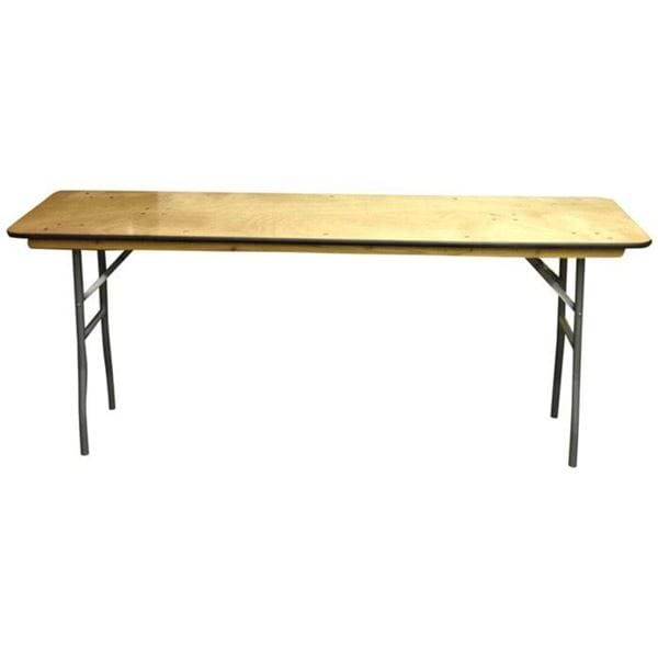 "Picture of NES 6ft x 18"" Wood Rectangle Folding Training Table"