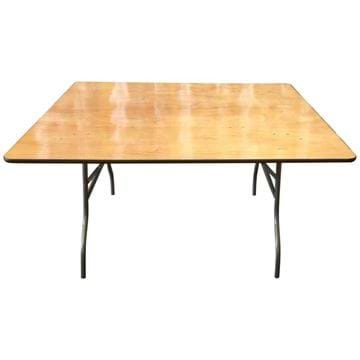 Picture of NES 5ft Square Wood Folding Table