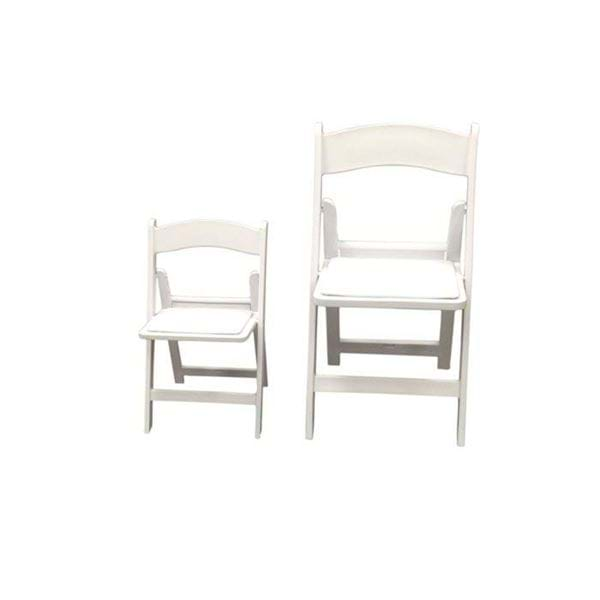 Picture of NES Reliable Children's White Resin Folding Chairs