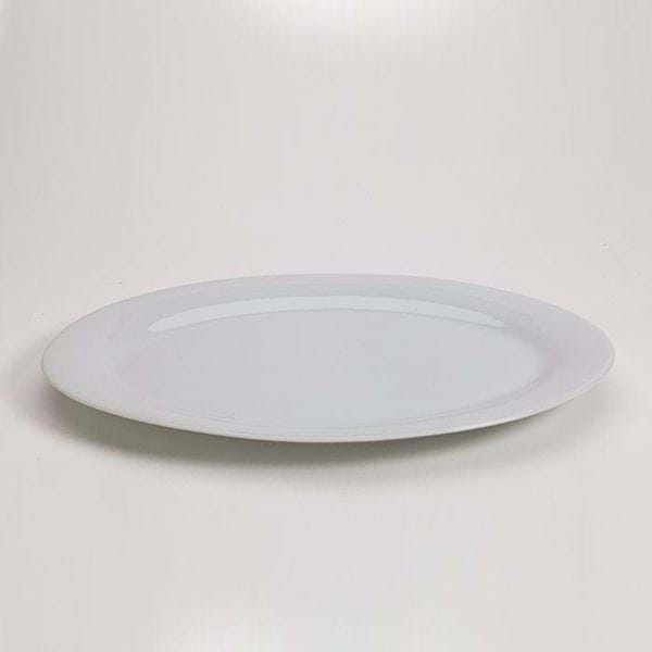 "Picture of Pearl White 12"" Oversize Plate"