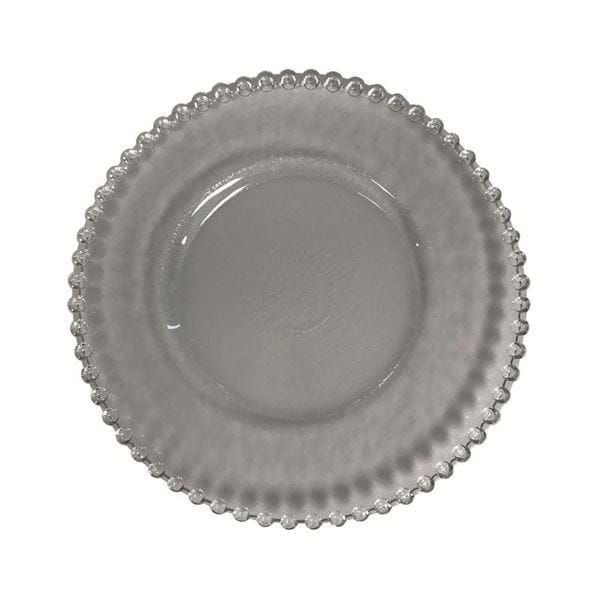 "Picture of 13.25"" Round Ruffled Clear Glass Charger Plate"