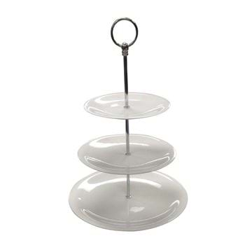 Picture of 3-Tier Round Porcelain Cake Stand