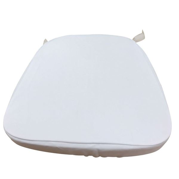 White Chiavari Chair Cushion Slip Cover