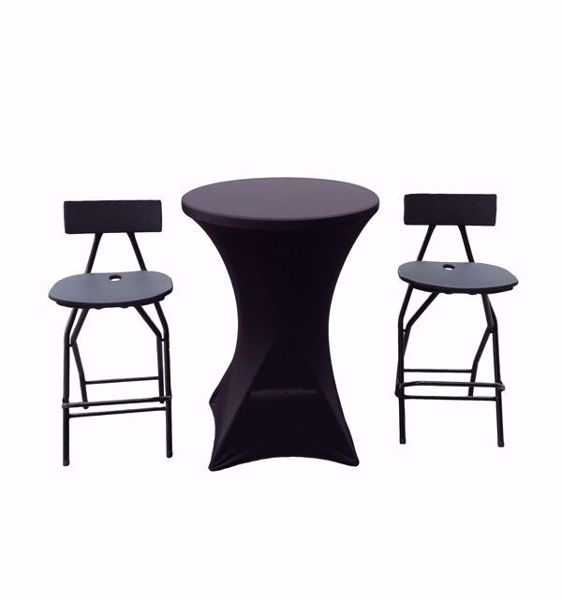 Tradeshow Cocktail Table & Bar Chairs Package