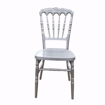 NES Reliable Silver Resin Napoleon Chair - Front
