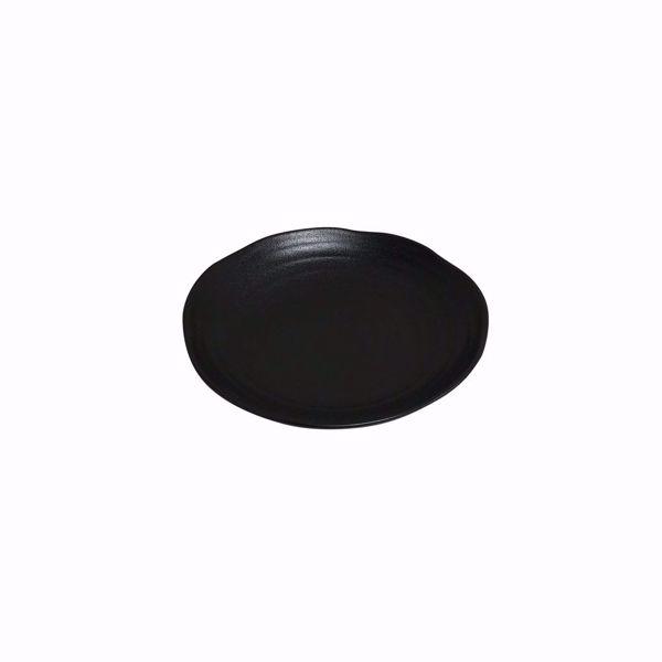 "Ebony 8.5"" Black Matte Round Bowl - side top"