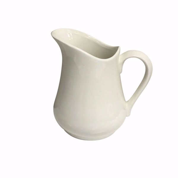 1L Porcelain Jug - Side