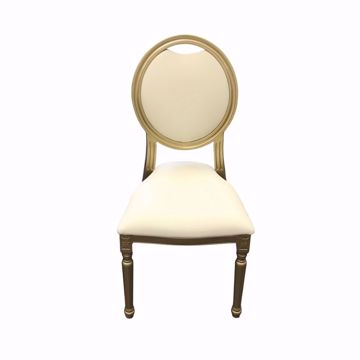 Gold King Louis Chair - Front