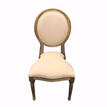 Stackable Wood King Louis Chair - Front