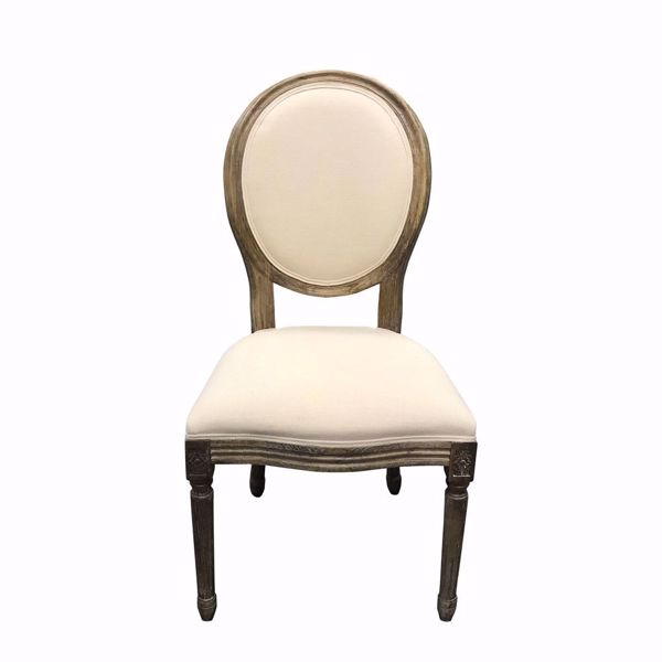 Wood King Louis Chair-Non-Stackable - Front
