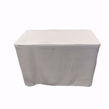 4ft Fitted Tablecloth - Grey