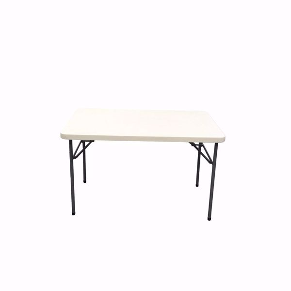"NES Reliable 4ft x 30"" Rectangle Plastic Folding Table"