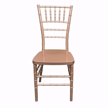 NES Reliable Rose Gold Resin Chiavari Chair