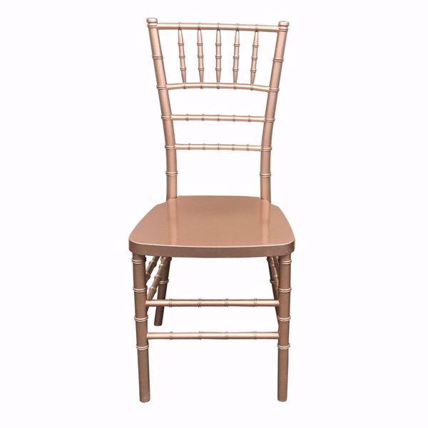 NES Reliable Rose Gold Resin Chiavari Chair