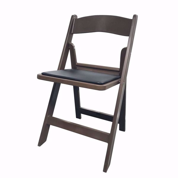 NES Reliable Brown Resin Folding Chair