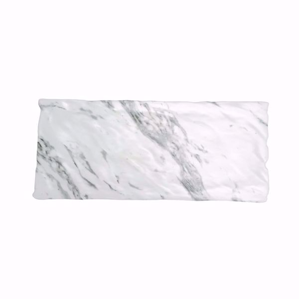 "7"" x 16"" Rectangle Faux Marble Melamine Platter"