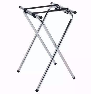 "Chrome 31"" High Tray Stand"