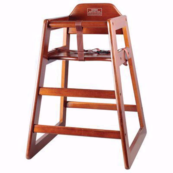 Walnut Wood Baby High Chair