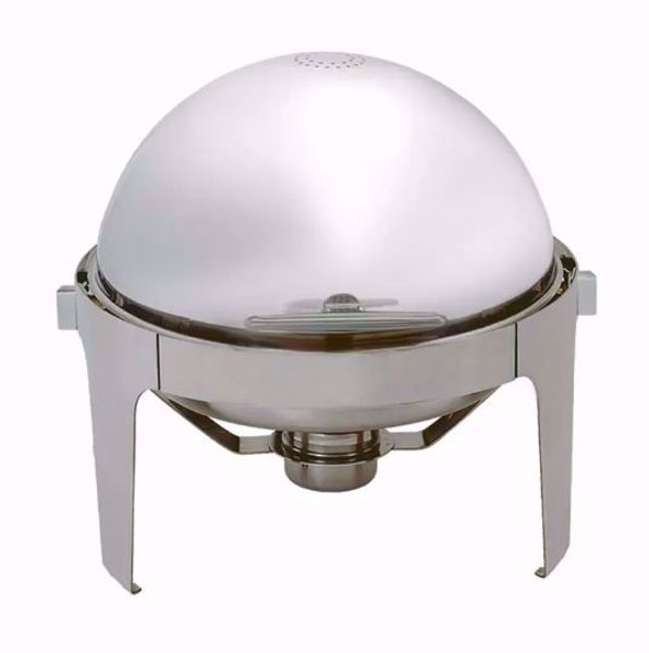 6 1/2 qt Round Chafer with Roll Top Lid